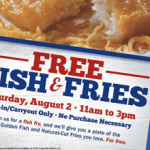 FREE Fish & Chips at Long John Silver's on August 2nd!