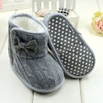 Amazon: Fleece Fur Lined Knitted Bow-knot Booties for Toddlers are $6.99