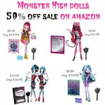 Save 50% on Select Monster High Dolls at Amazon!