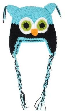 owl crotchet toddler hat