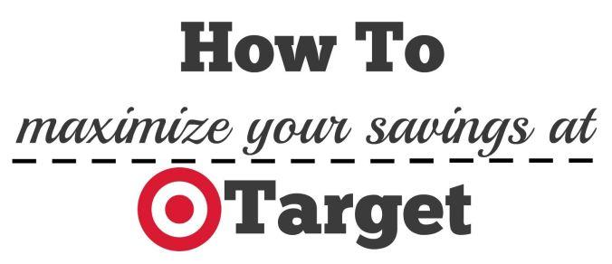 maximize your savings at Target