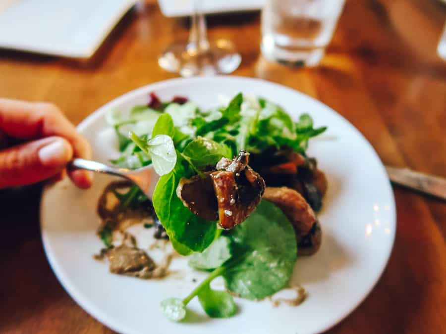 Giorgio Farms Herb Roasted White Organic Mushrooms Revival at Revival on Lincoln by Chef Jamie Sola