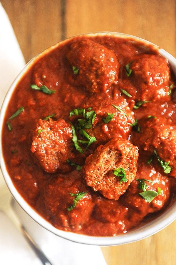 Keto Slow Cooker Meatballs