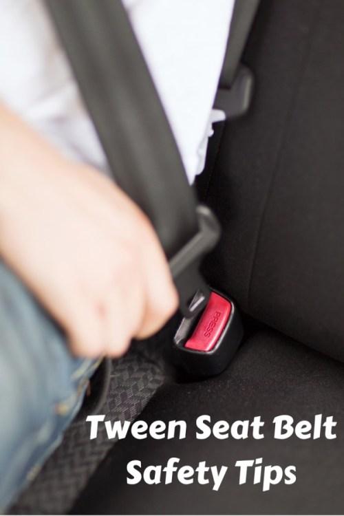Tween Seat Belt Safety Tips