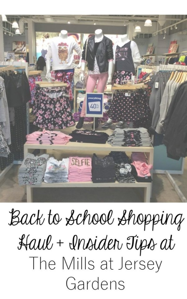 Back to School Shopping Haul + Insider Tips at The Mills at Jersey Gardens