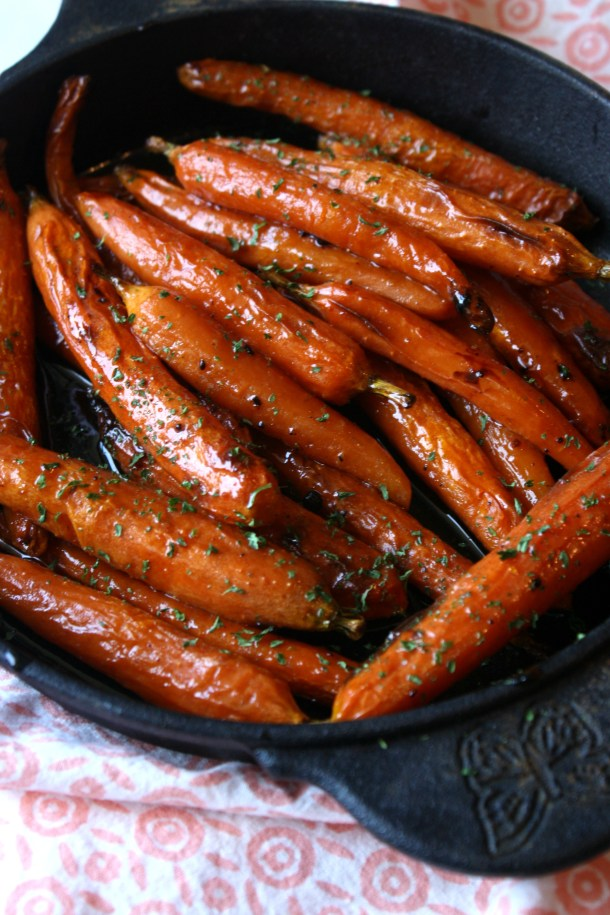 baked brown sugar carrots photo
