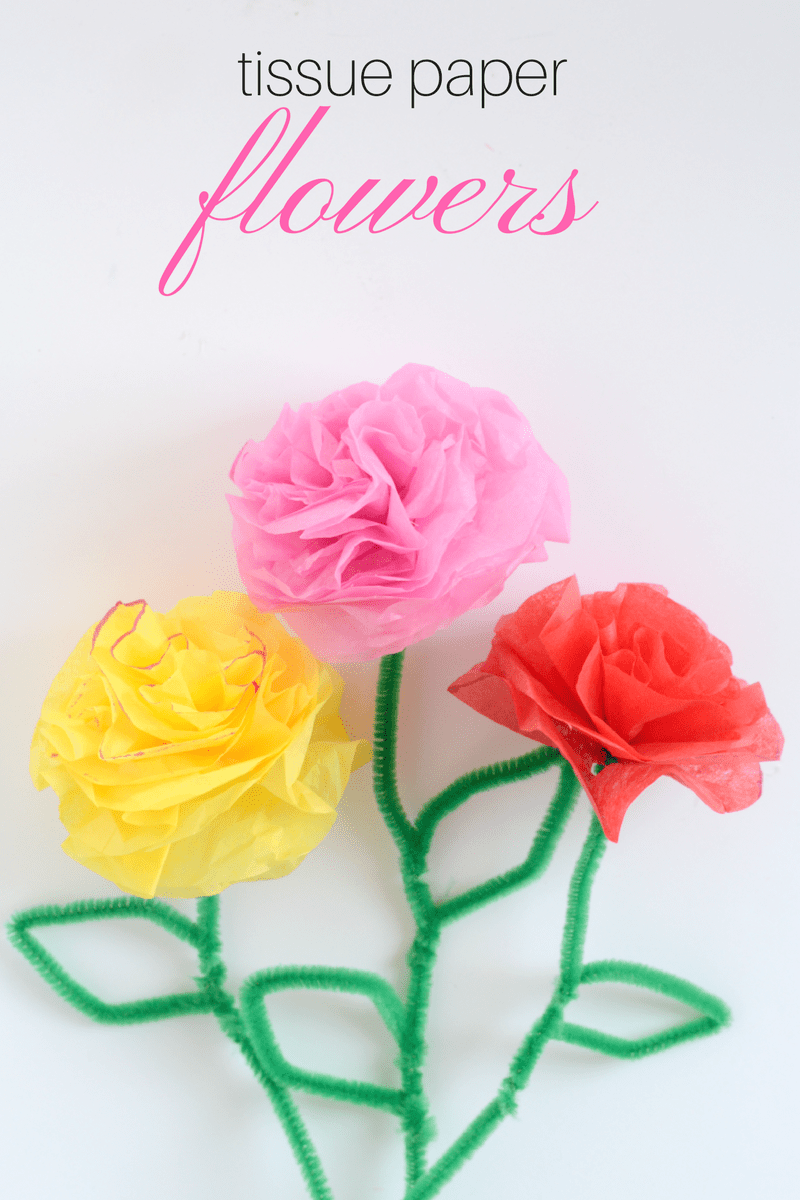 diy tissue paper flowers