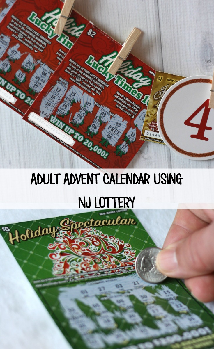Create an Adult Advent Calendar Using NJ Lottery for Holidays