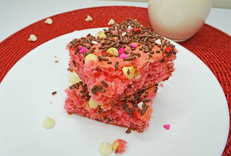 Valentine's Cake Mix Bars
