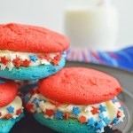 Patriotic Cake Mix Sandwich Cookies