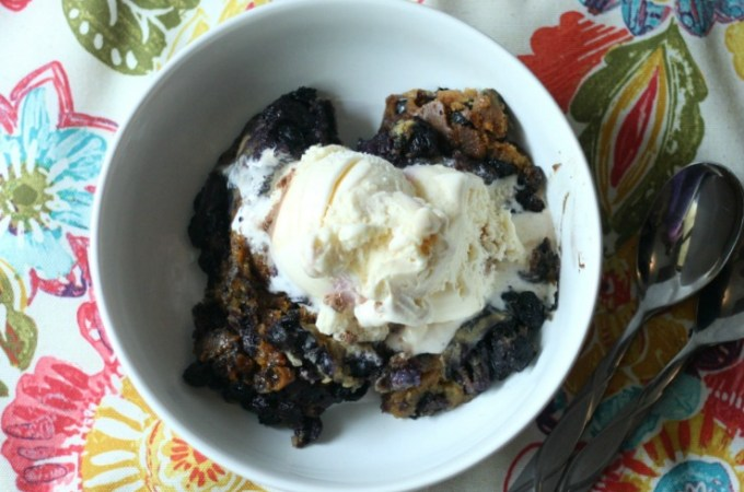 Crock Pot Blueberry Cobbler