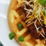 Chili & Cornbread Waffles