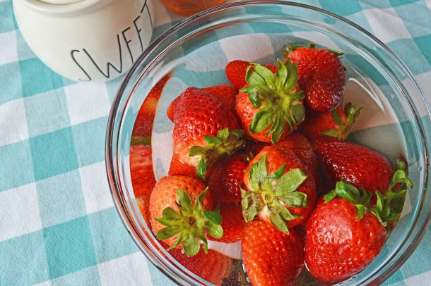 Pink Moscato Infused Strawberries
