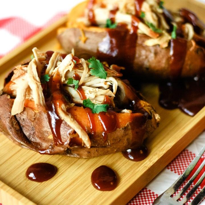 Pulled Pork Stuffed Sweet Potatoes
