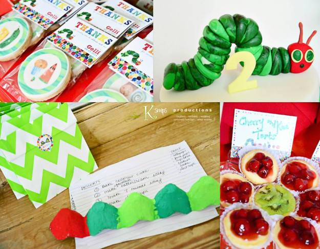 Smaller details like chevron bags from Paper Chic Studio, Cookies from Cuppy Puppy, and Fruit Tarts from Palms Country Club help complete the themed celebration.