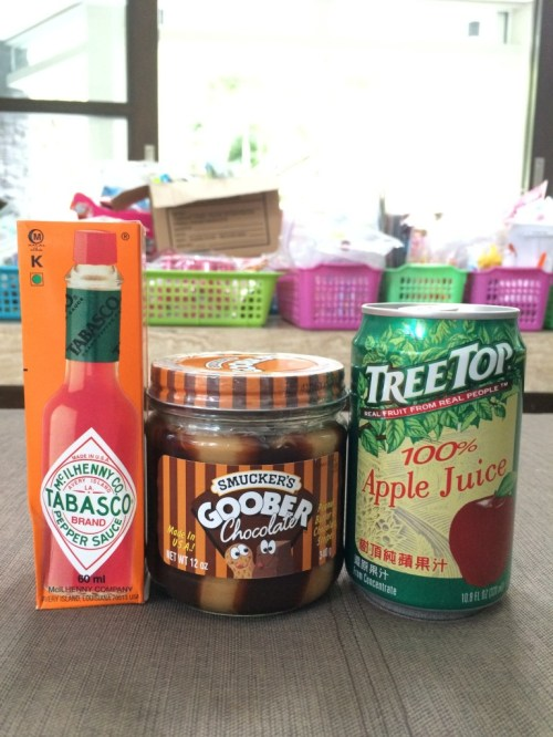 Thank you Tabasco, Jiff, and Tree Top for supplying treats for our goody bags! I know I don't speak for myself when I say this was a nice treat!!!
