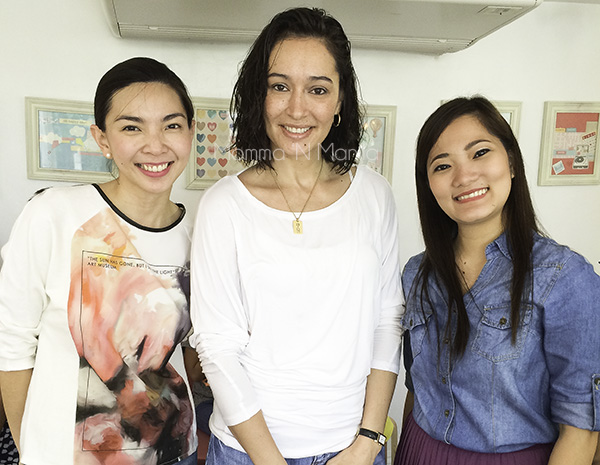With Orly Brand Manager, Jackie Dyecho, and Marketing Assistant, Clarisse Lacanlale.