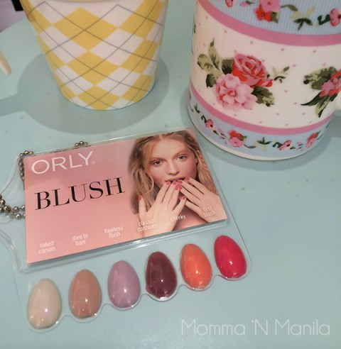 Blush Collection with Coffee and Cupcakes...What a great way to start my Saturday of bonding with my girl.