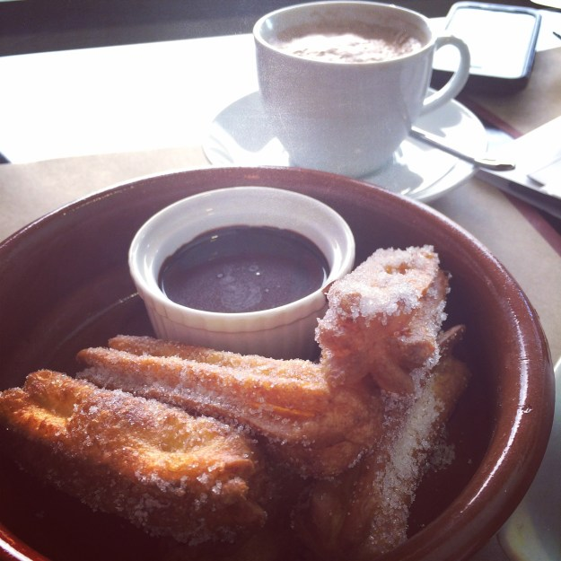 How better to finish this meal which was so super filling then with Churros and Chocolate? After I had my Mochachino I was ready to go watch Gias volleyball game.