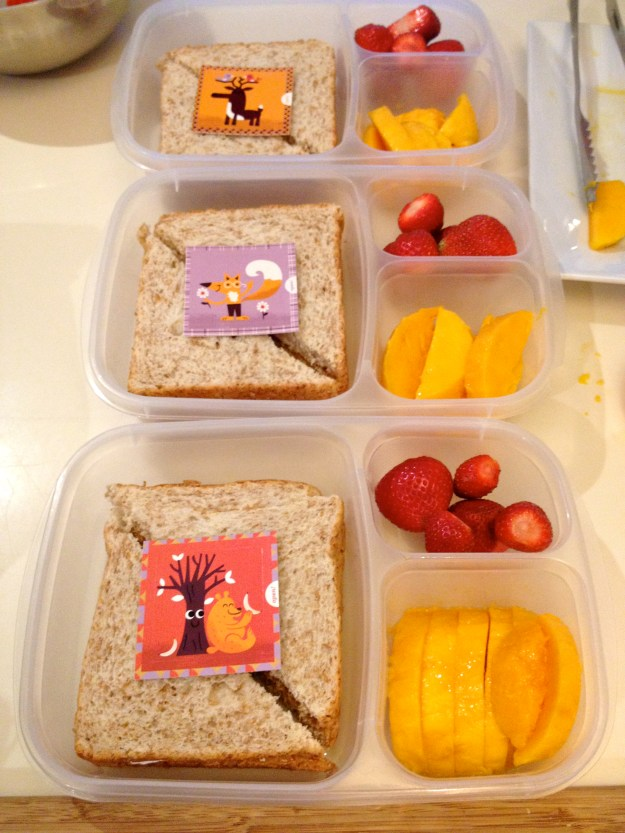 Or you can invest in these little Lunch Box Notes. You can get them over at Nurture Nook. Thanks Janice-you know me so well :-) These come in very handy!