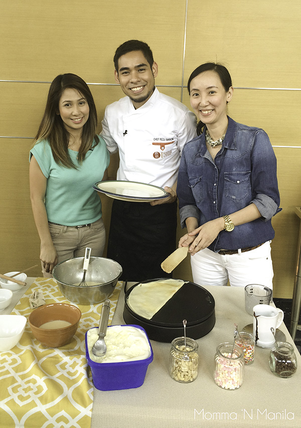 And Tina made it look very easy when she made her crepe using the Severin Crepe maker.