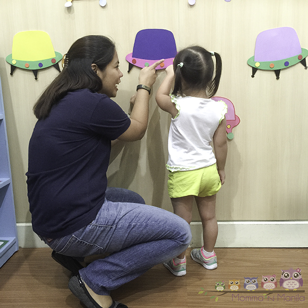 Gelli's first day of school went smoothly after she settled in with Teacher Maricel.