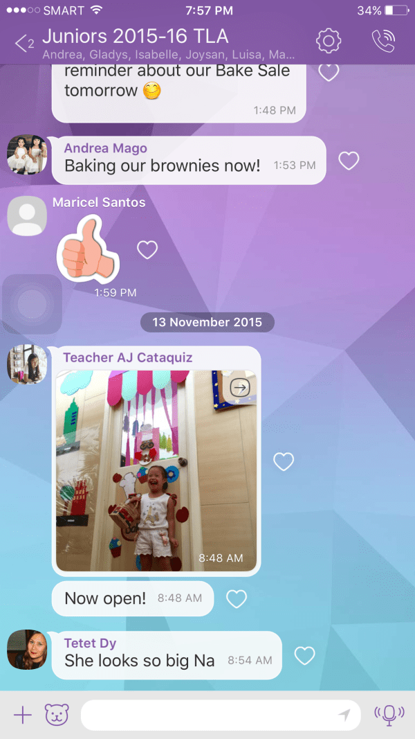 "I love the beauty of Gelli going to a school where parents, teachers, and administrators are all on one thread in a VIBER group. Remember ""It takes a Village!"""