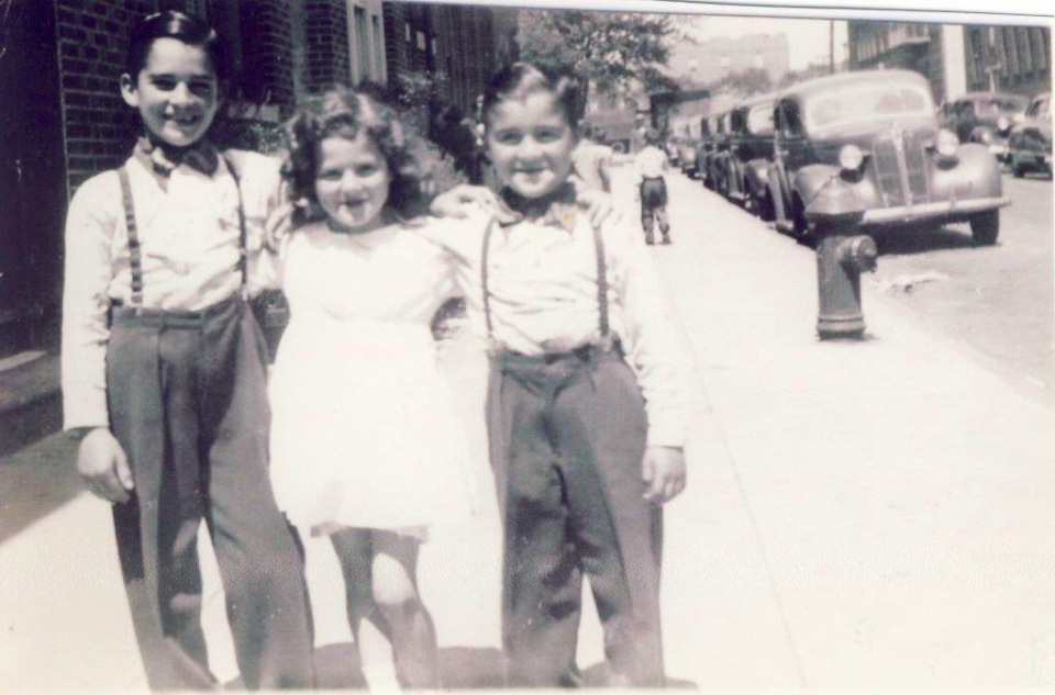 My dad, our cousin Roseanne, and John's Dad when they were growing up in the Bronx.