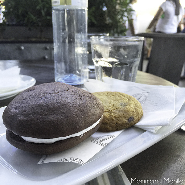 Like the croissants we would receive in our bread basket every morning...the whoopie pies and the cookies were huge!!! BIG & TASTY to be exact...