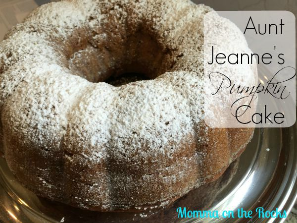 Aunt Jeanne's Pumpkin Cake