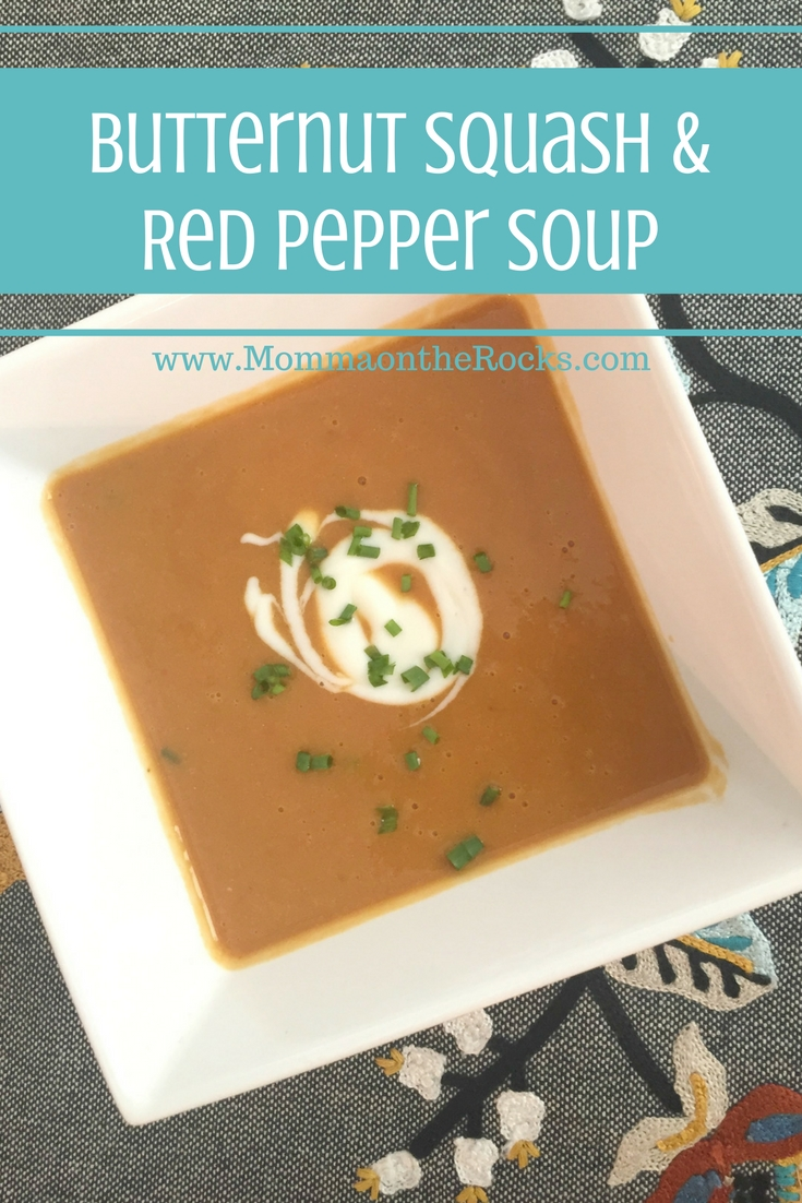 Butternut Squash and Red Pepper Soup