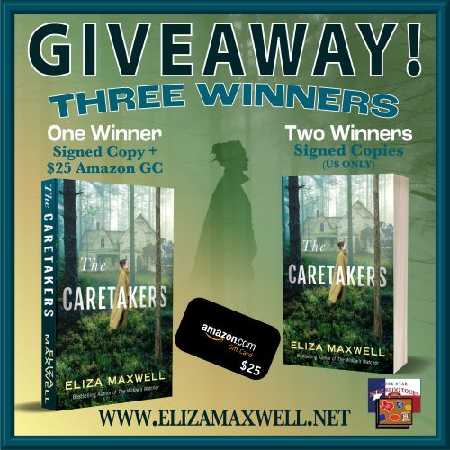 Giveaway graphic for The Caretakers