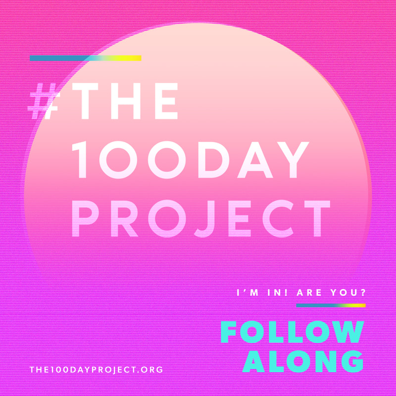 #the100dayproject participation badge