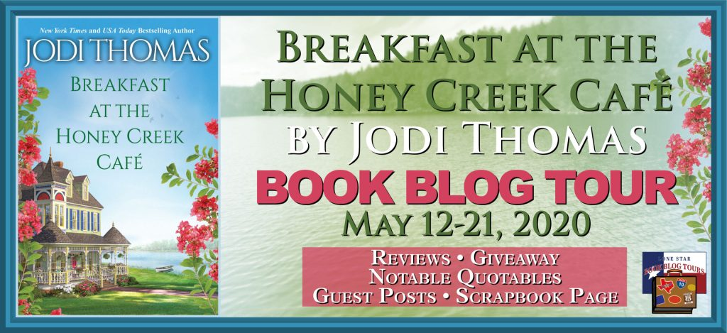 blog tour banner for Breakfast at the Honey Creek Café