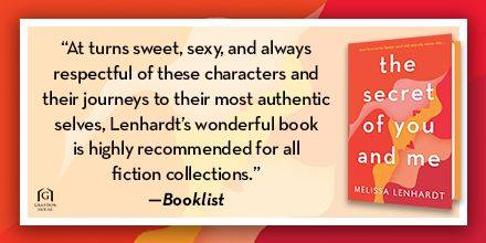 Booklist graphic for the Secret of you and Me
