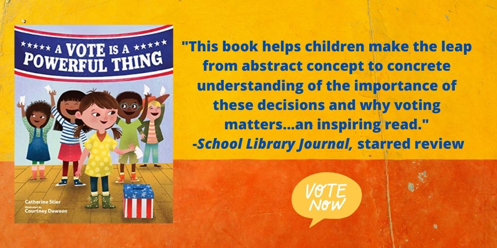 Starred review blurb image for A Vote is a powerful thing