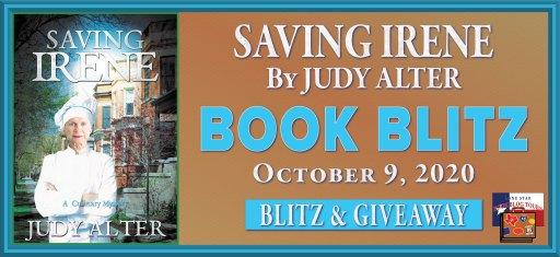 book blitz banner for Saving Irene