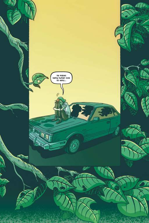 Illustrated page from the graphic novel Swamp Thing