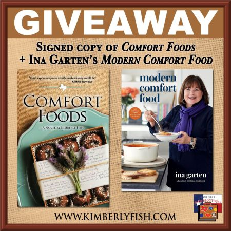 IMAGE OF GIVEAWAY PRIZES FOR COMFORT FOOD BLOG TOUR