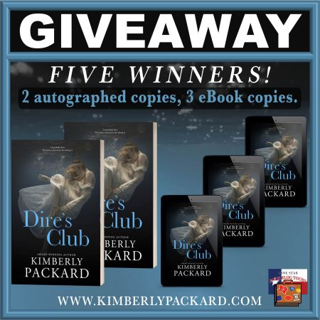 IMAGE OF GIVEAWAY FOR DIRE'S CLUB BOOK