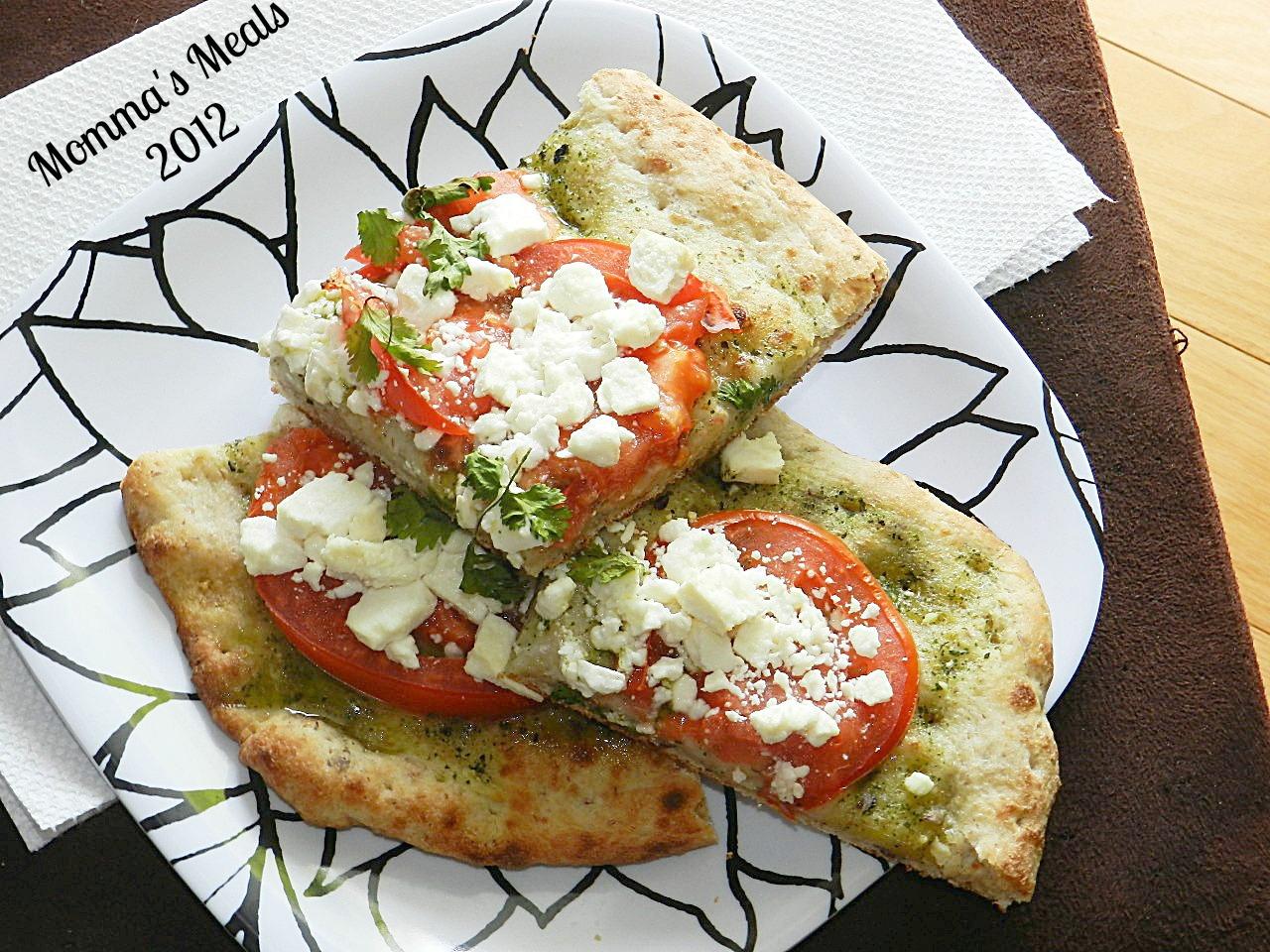 Pesto, Tomatoe & Feta Pizza (5)
