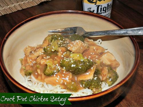 Crock Pot Chicken Satay