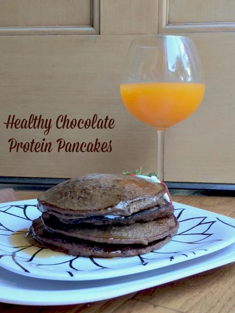 Chocolate Protein Pancakes6
