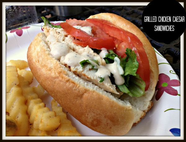 Grilled Cesear Salad Sandwiches