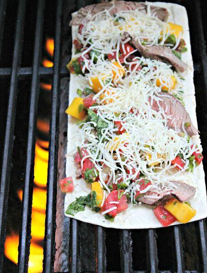 Grilled Steak and Mango Salsa Flatbread