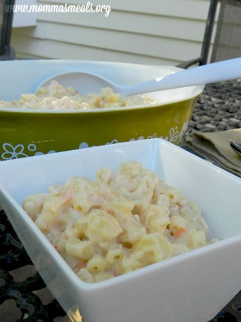 Nunney's Super Mac N Cheese is full of Cheesy goodness and Veggies!