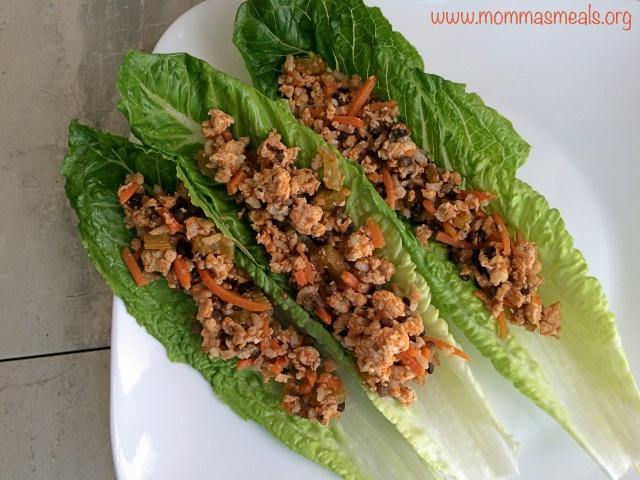 Buffalo Chicken & Lentil Lettuce Wraps