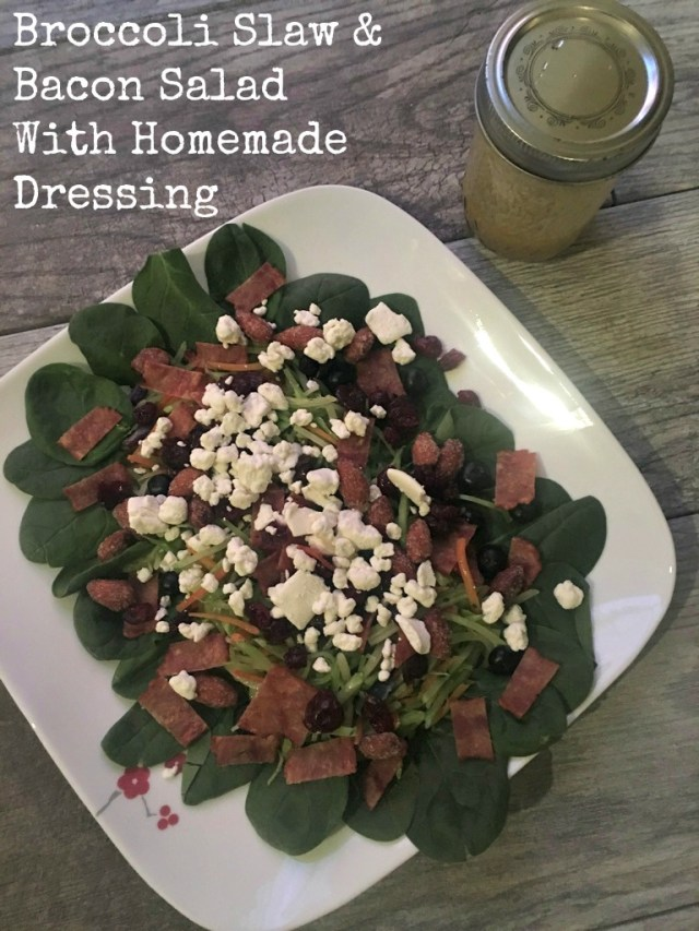 Broccoli Slaw & Bacon Salad With Homemade Dressing