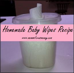 Homemade baby wipes recipe