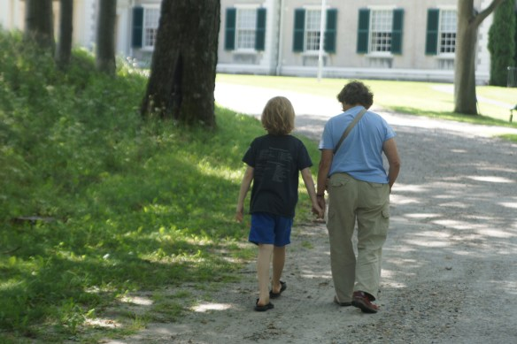 Nonni and The Buster enjoying a stroll.